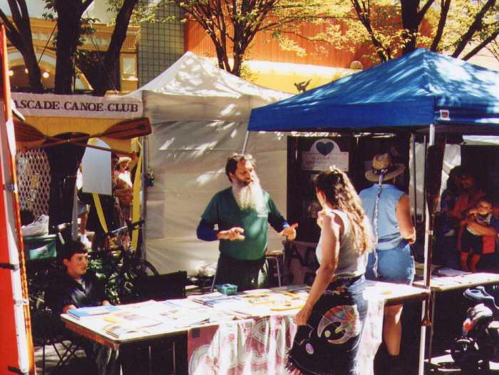 2002 Eugene Celebration CCC booth